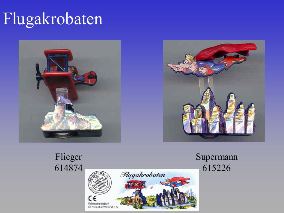 Flugakrobaten Flieger 614874 Supermann 615226