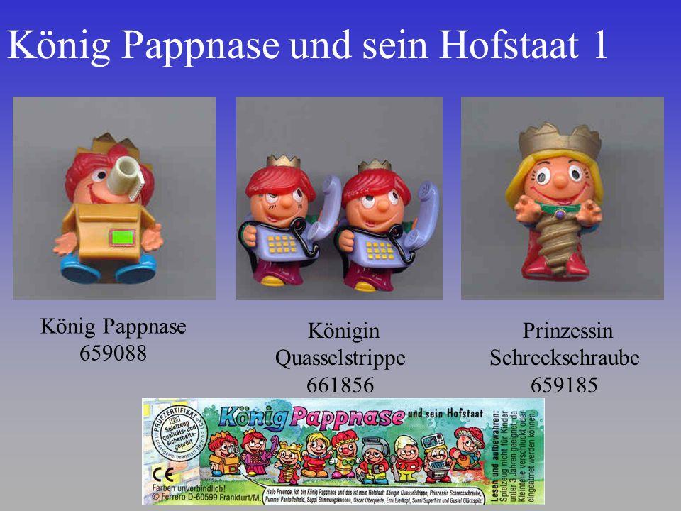 König Pappnase und sein Hofstaat 1 Prinzessin Schreckschraube 659185 König Pappnase 659088 Königin Quasselstrippe 661856