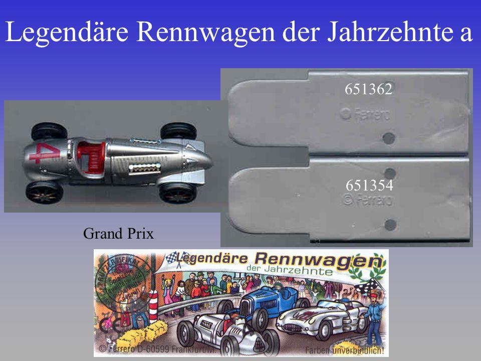 Legendäre Rennwagen der Jahrzehnte a Grand Prix 651362 651354