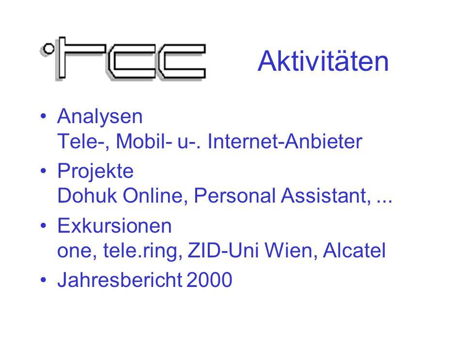 Aktivitäten Analysen Tele-, Mobil- u-.