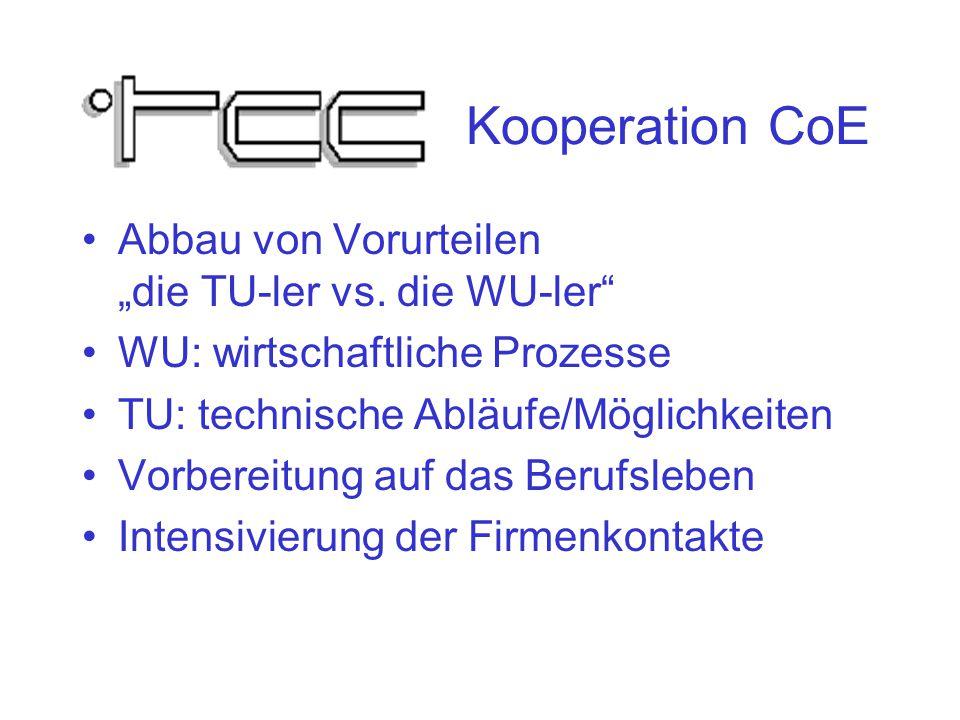 """Kooperation CoE Abbau von Vorurteilen """"die TU-ler vs."""