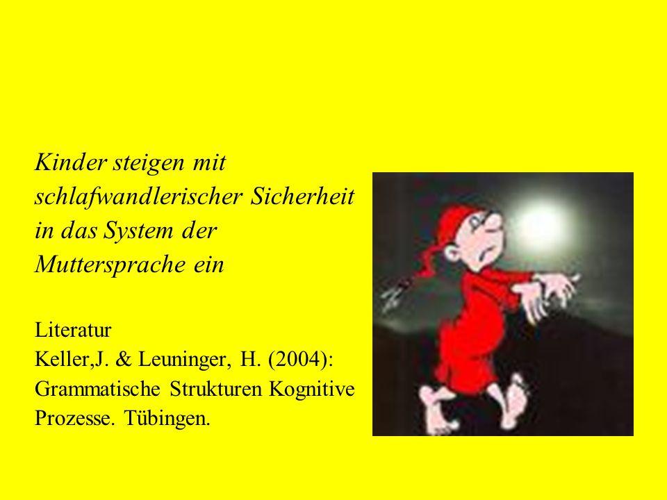 Stadien im Spracherwerb Vorlexikalisch => lexikalisch => syntaktisch
