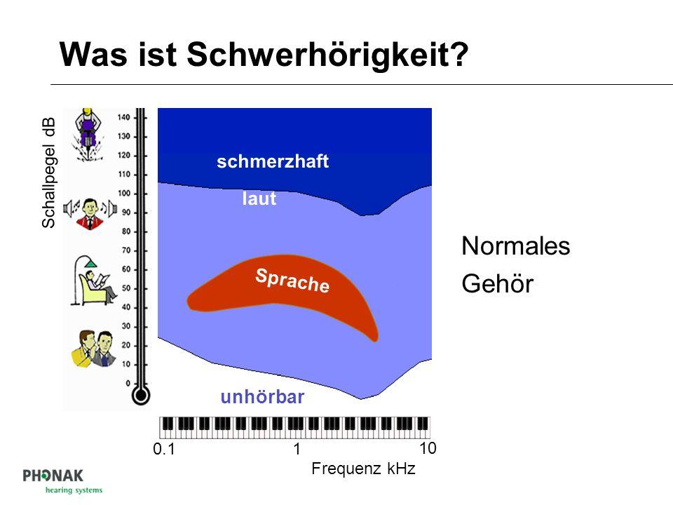 Empfindlichkeit des Gehörs: Dynamik 1 Tonne  1 Gramm Blätterrascheln, Flüstern Düsenflugzeug, Preßlufthammer