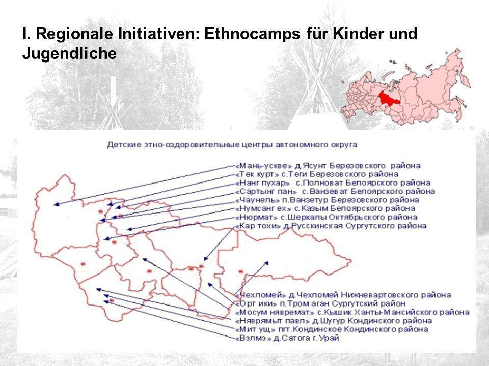 I. Regionale Initiativen: Ethnocamps für Kinder und Jugendliche