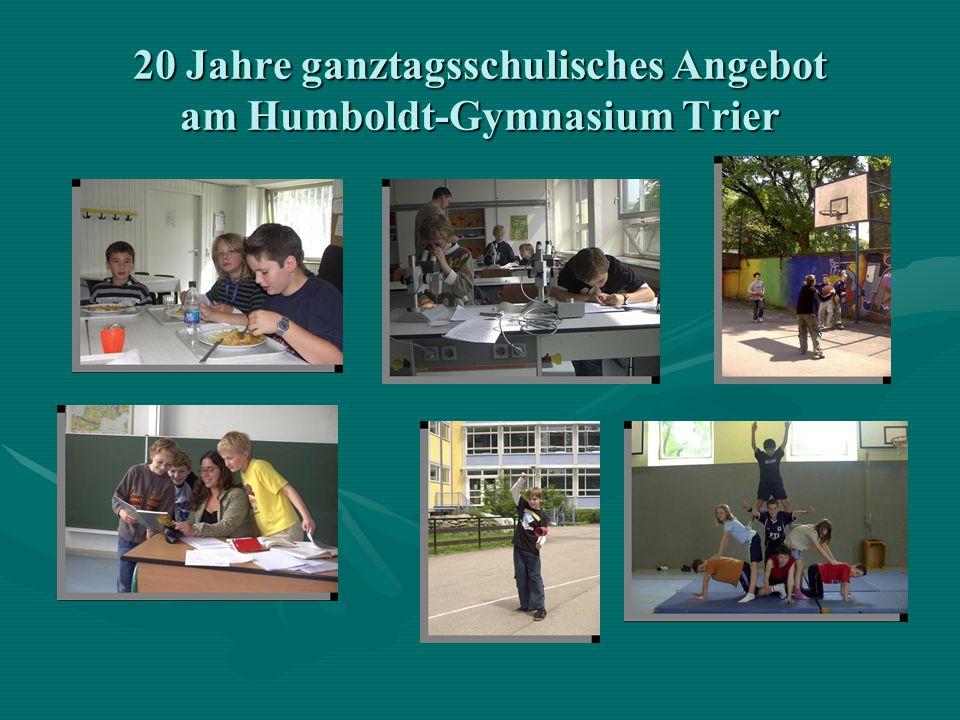 20 Jahre ganztagsschulisches Angebot am Humboldt-Gymnasium Trier