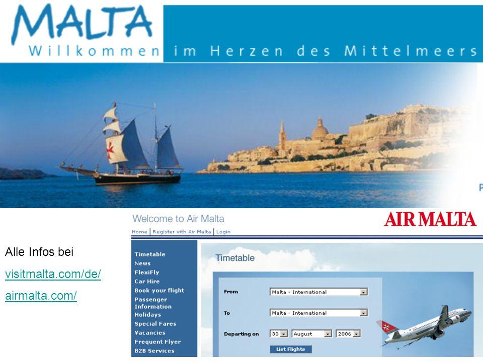 Alle Infos bei visitmalta.com/de/ airmalta.com/