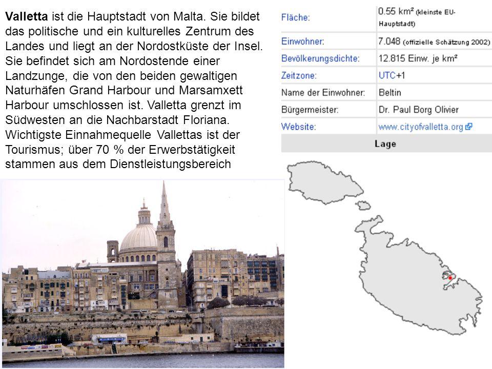 Valletta ist die Hauptstadt von Malta.