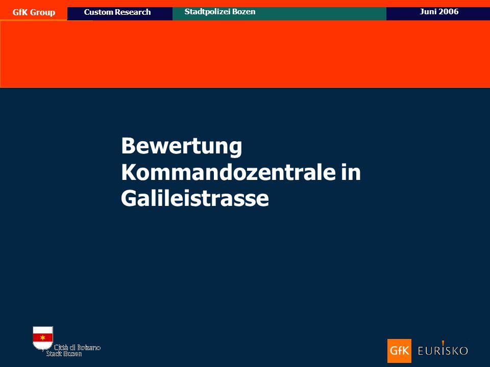 14 Ottobre 2005 Custom Research Posizionamento e target potenziale di Honda Civic GfK Group Stadtpolizei BozenJuni 2006 Custom Research Bewertung Komm