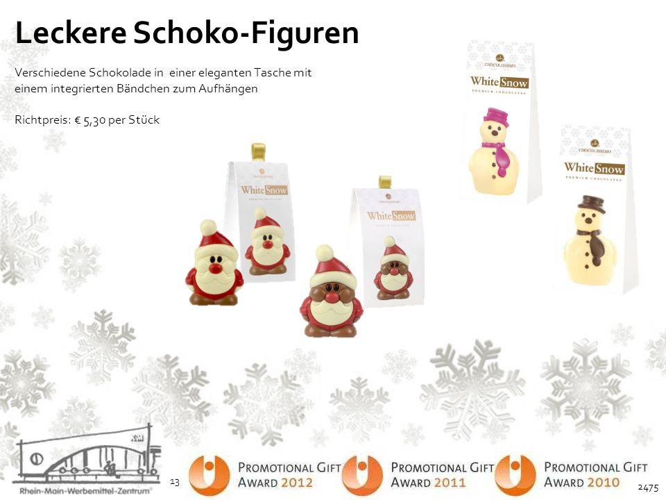 Leckere Schoko-Figuren Verschiedene Schokolade in einer eleganten Tasche mit einem integrierten Bändchen zum Aufhängen Richtpreis: € 5,30 per Stück 13