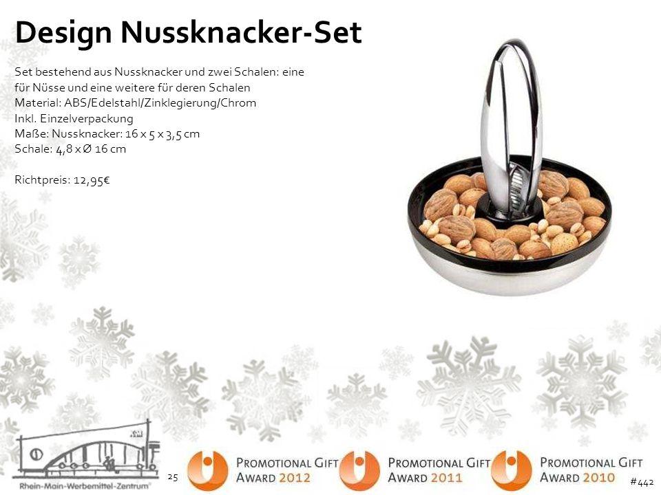 Design Nussknacker-Set Set bestehend aus Nussknacker und zwei Schalen: eine für Nüsse und eine weitere für deren Schalen Material: ABS/Edelstahl/Zinkl