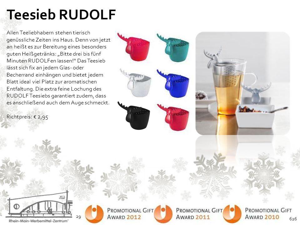Teesieb RUDOLF Allen Teeliebhabern stehen tierisch genüssliche Zeiten ins Haus. Denn von jetzt an heißt es zur Bereitung eines besonders guten Heißget