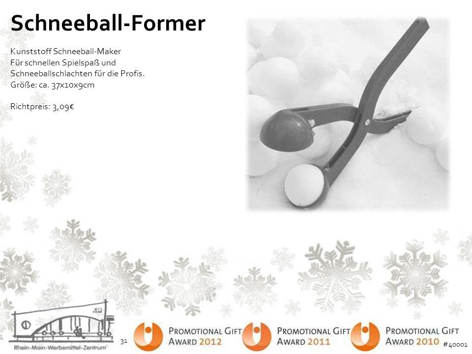 Schneeball-Former Kunststoff Schneeball-Maker Für schnellen Spielspaß und Schneeballschlachten für die Profis. Größe: ca. 37x10x9cm Richtpreis: 3,09€