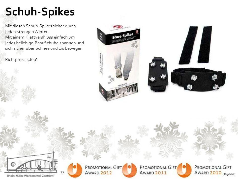 Schuh-Spikes Mit diesen Schuh-Spikes sicher durch jeden strengen Winter. Mit einem Klettvershluss einfach um jedes beliebige Paar Schuhe spannen und s