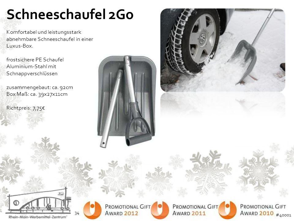 Schneeschaufel 2Go Komfortabel und leistungsstark abnehmbare Schneeschaufel in einer Luxus-Box. frostsichere PE Schaufel Aluminium-Stahl mit Schnappve