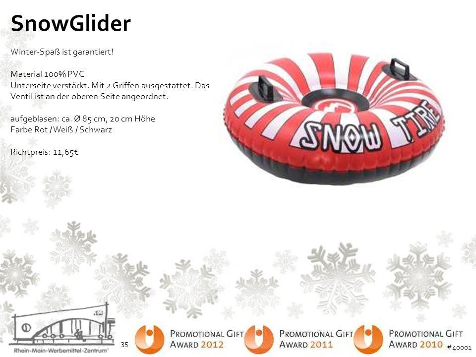 SnowGlider Winter-Spaß ist garantiert! Material 100% PVC Unterseite verstärkt. Mit 2 Griffen ausgestattet. Das Ventil ist an der oberen Seite angeordn