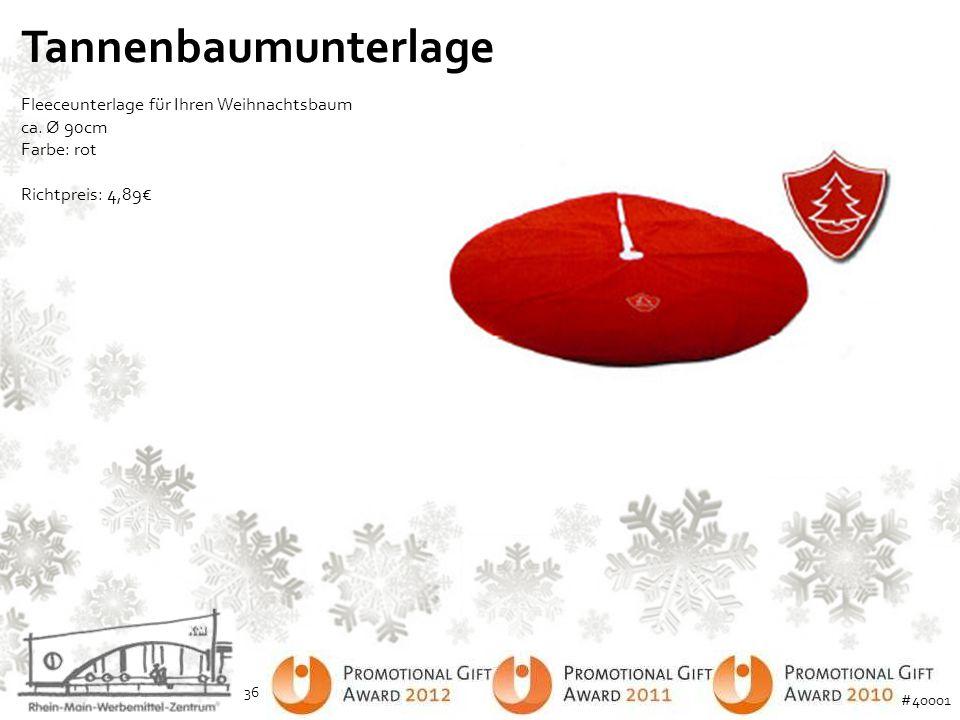Tannenbaumunterlage Fleeceunterlage für Ihren Weihnachtsbaum ca. Ø 90cm Farbe: rot Richtpreis: 4,89€ 36 #40001