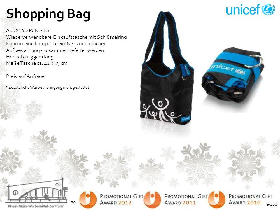 Shopping Bag Aus 210D Polyester Wiederverwendbare Einkaufstasche mit Schlüsselring Kann in eine kompakte Größe - zur einfachen Aufbewahrung - zusammen
