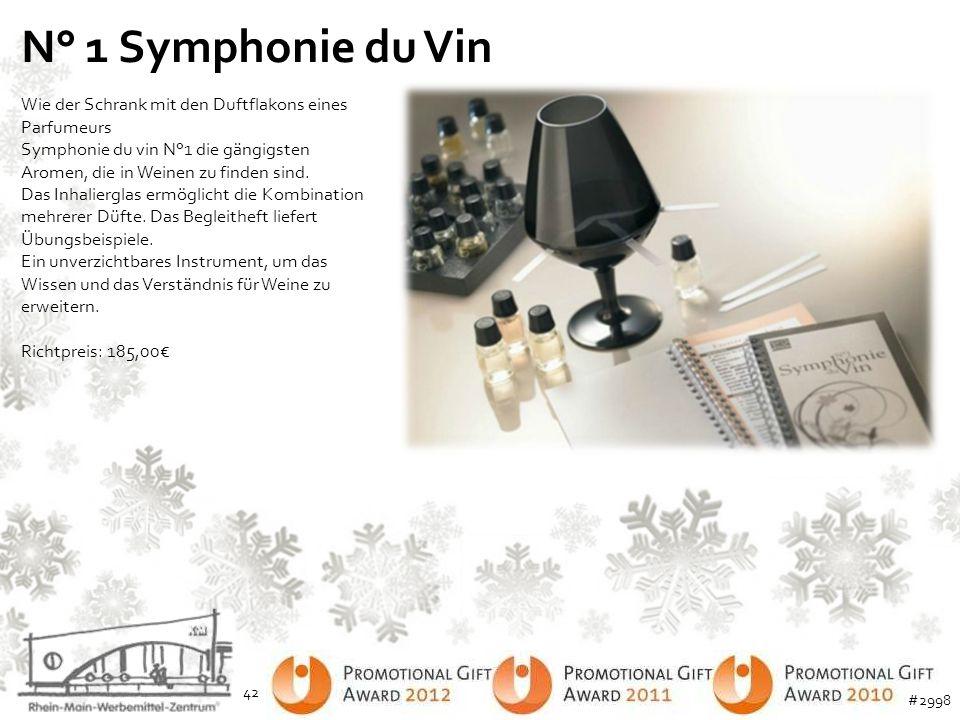 N° 1 Symphonie du Vin Wie der Schrank mit den Duftflakons eines Parfumeurs Symphonie du vin N°1 die gängigsten Aromen, die in Weinen zu finden sind. D
