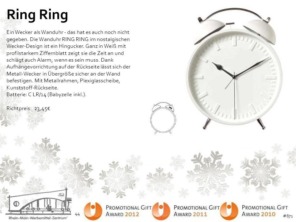 Ring Ein Wecker als Wanduhr - das hat es auch noch nicht gegeben. Die Wanduhr RING RING im nostalgischen Wecker-Design ist ein Hingucker. Ganz in Weiß