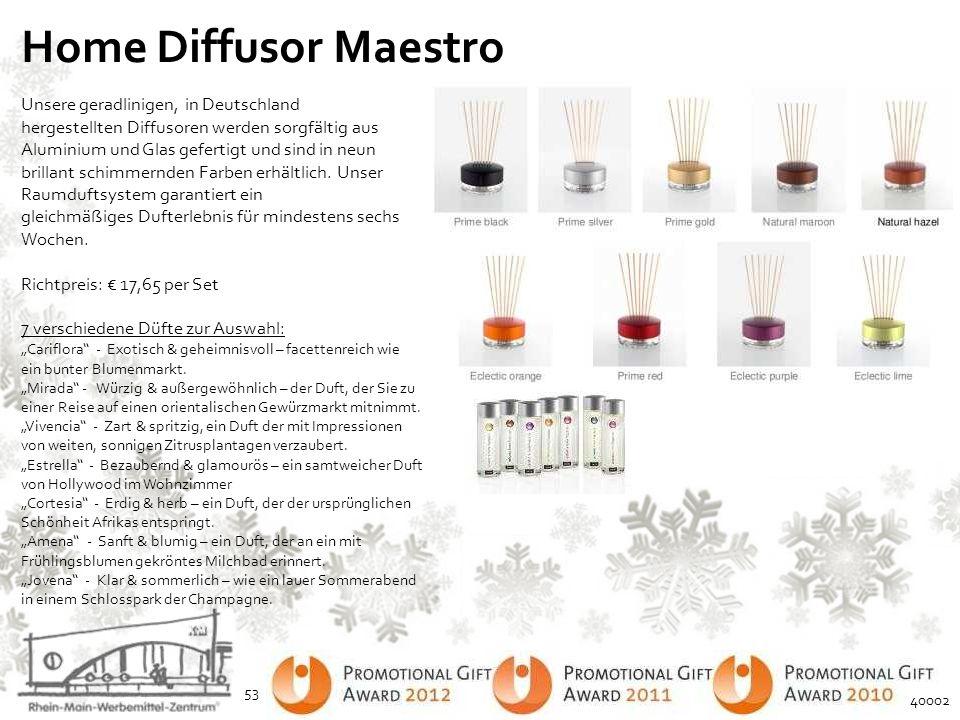 Home Diffusor Maestro Unsere geradlinigen, in Deutschland hergestellten Diffusoren werden sorgfältig aus Aluminium und Glas gefertigt und sind in neun