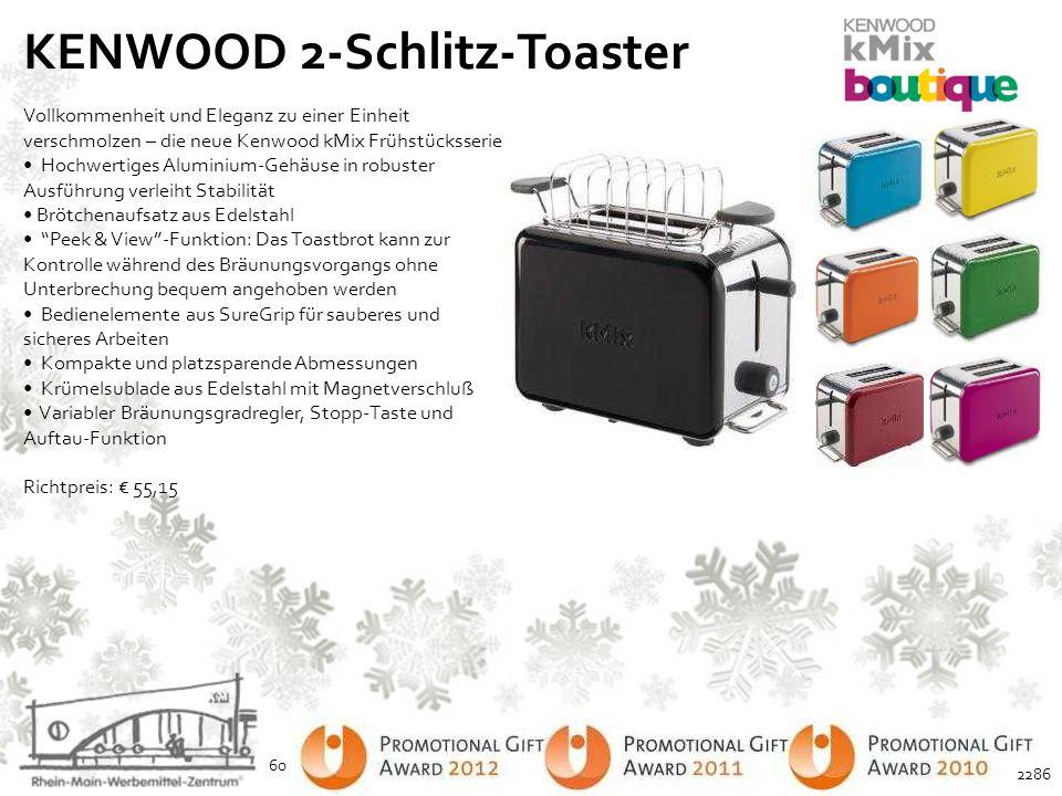 KENWOOD 2-Schlitz-Toaster Vollkommenheit und Eleganz zu einer Einheit verschmolzen – die neue Kenwood kMix Frühstücksserie Hochwertiges Aluminium-Gehä