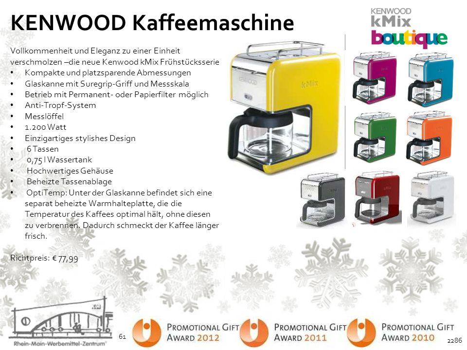KENWOOD Kaffeemaschine Vollkommenheit und Eleganz zu einer Einheit verschmolzen –die neue Kenwood kMix Frühstücksserie Kompakte und platzsparende Abme