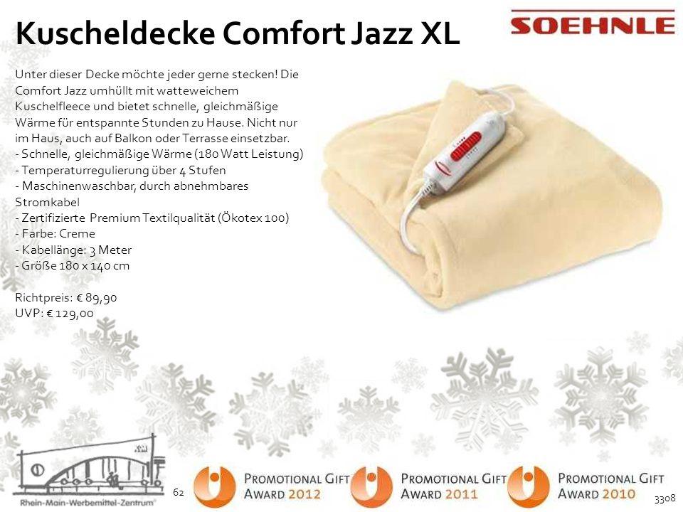 Kuscheldecke Comfort Jazz XL Unter dieser Decke möchte jeder gerne stecken! Die Comfort Jazz umhüllt mit watteweichem Kuschelfleece und bietet schnell