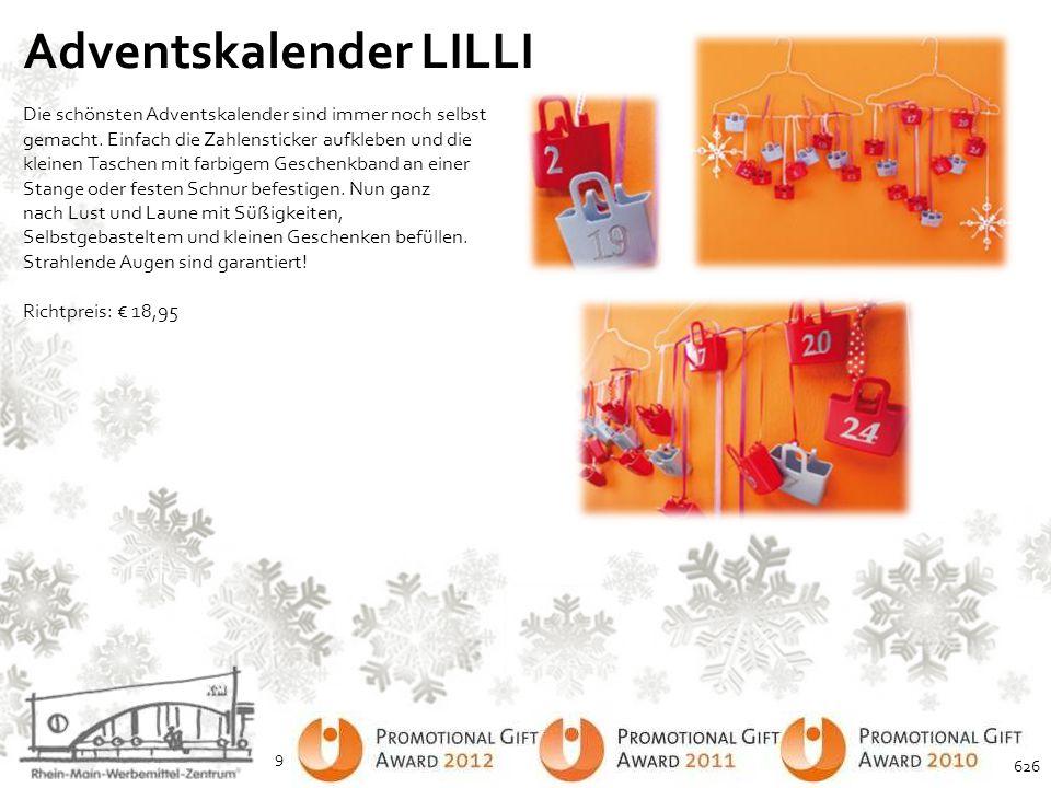 Adventskalender Deluxe Ein toller Adventskalender mit 24 leckeren einzelverpackten Pralinen.