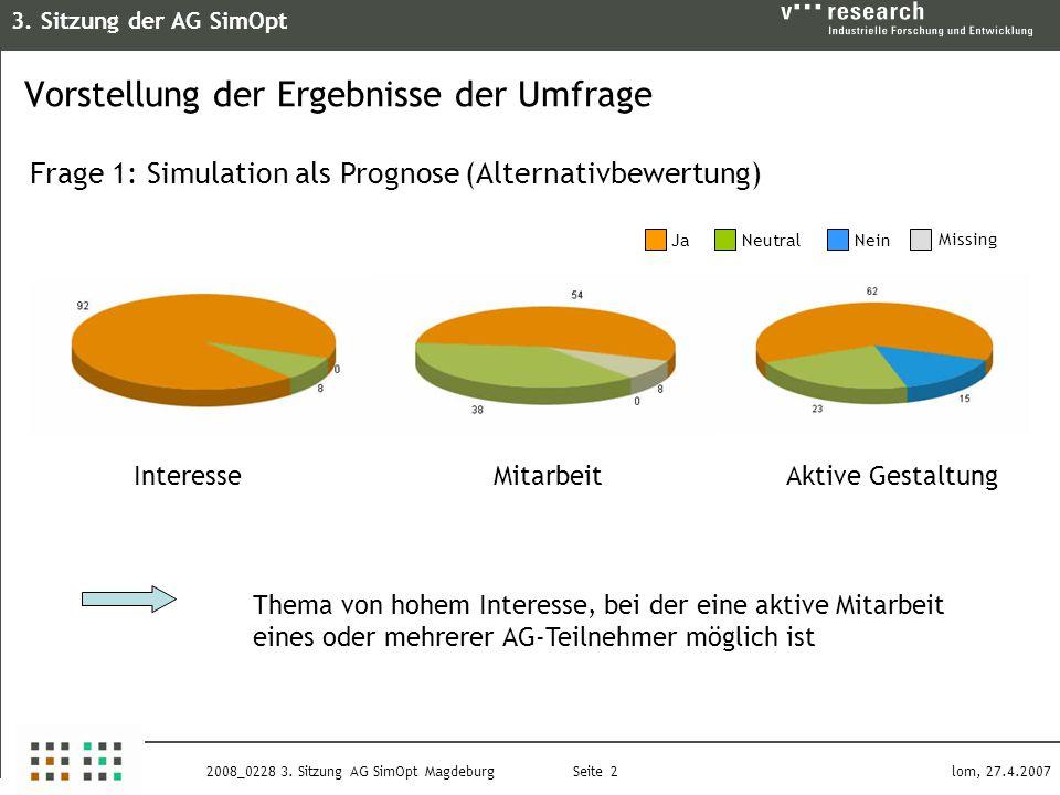 3. Sitzung der AG SimOpt Seite 2 lom, 27.4.20072008_0228 3.