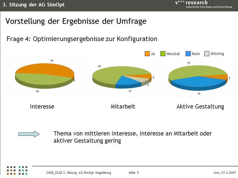 3. Sitzung der AG SimOpt Seite 5 lom, 27.4.20072008_0228 3.