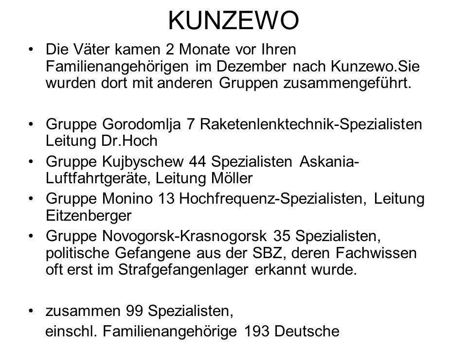 KUNZEWO Die Väter kamen 2 Monate vor Ihren Familienangehörigen im Dezember nach Kunzewo.Sie wurden dort mit anderen Gruppen zusammengeführt. Gruppe Go