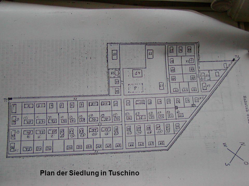 Plan der Siedlung in Tuschino