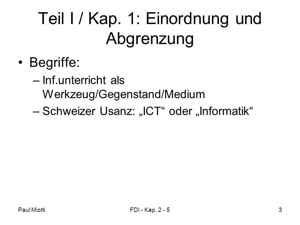 Paul MiottiFDI - Kap. 2 - 53 Teil I / Kap.