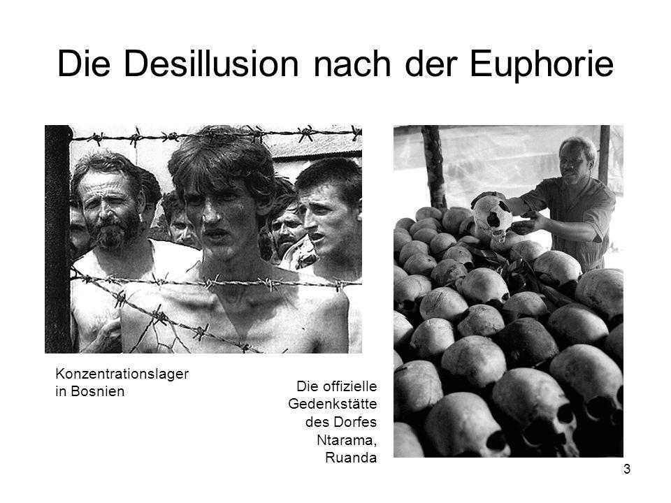 3 Die Desillusion nach der Euphorie Die offizielle Gedenkstätte des Dorfes Ntarama, Ruanda Konzentrationslager in Bosnien