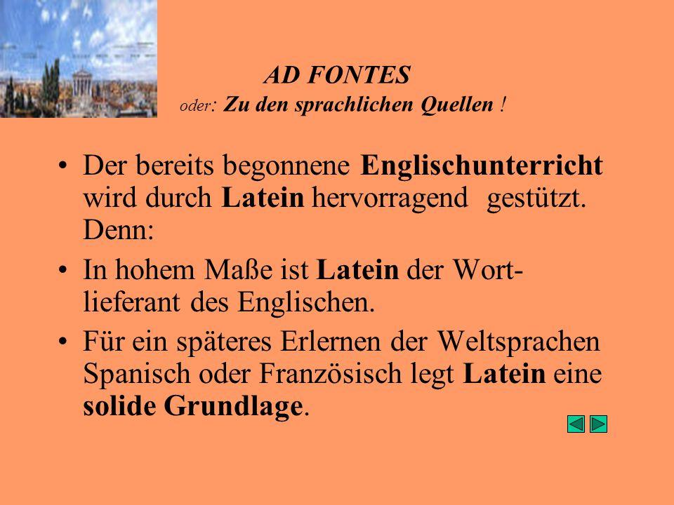 AD FONTES oder : Zu den sprachlichen Quellen .