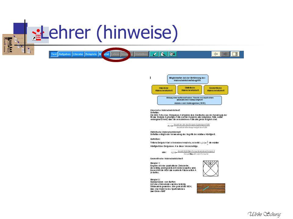 Ulrike Schurig Lehrer (hinweise)