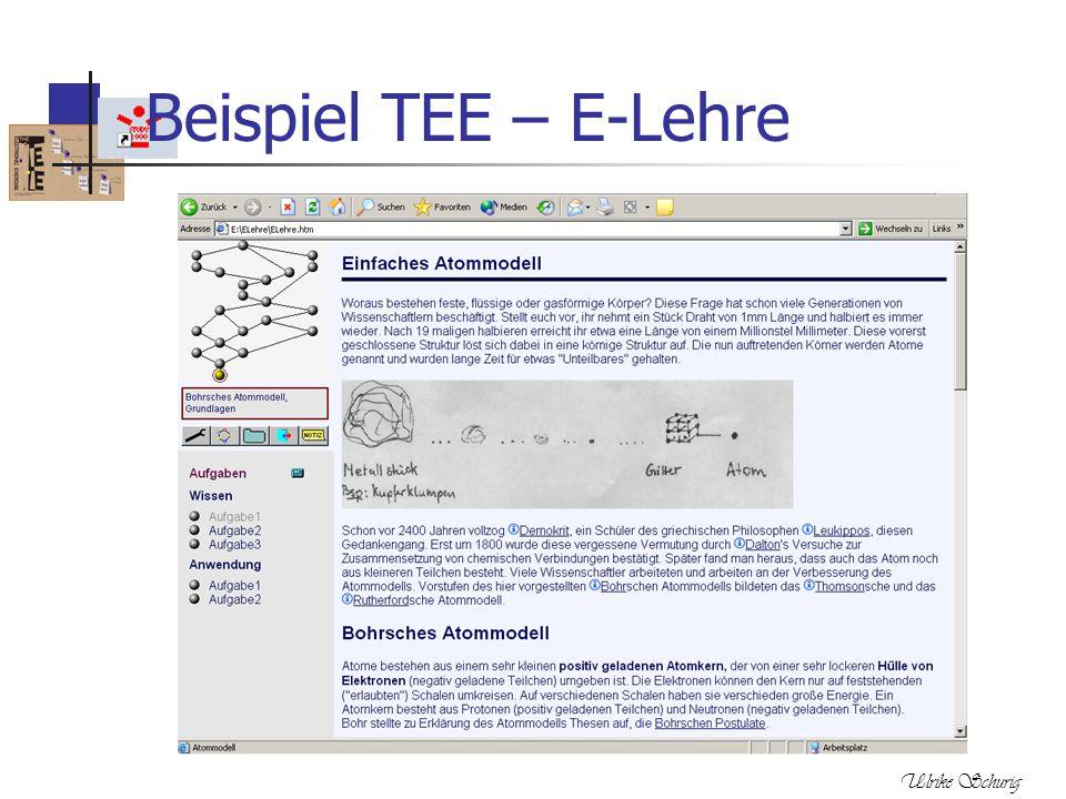 Ulrike Schurig Beispiel TEE – E-Lehre