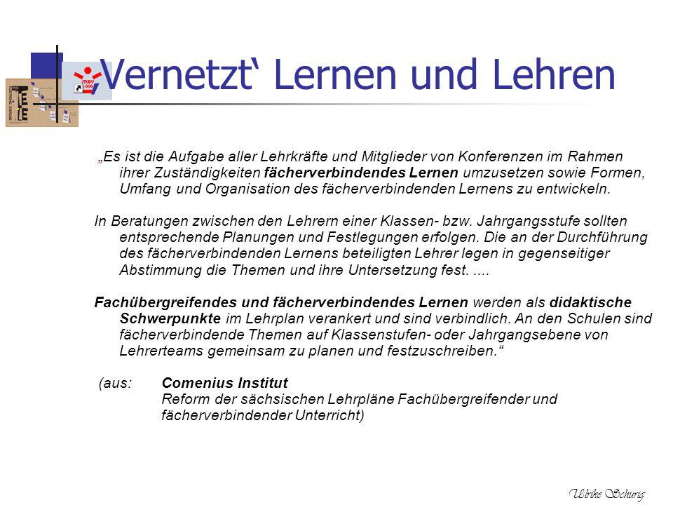 """Ulrike Schurig 'Vernetzt' Lernen und Lehren """"Es ist die Aufgabe aller Lehrkräfte und Mitglieder von Konferenzen im Rahmen ihrer Zuständigkeiten fächer"""