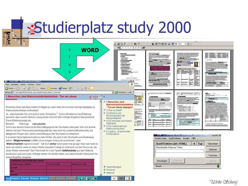 Ulrike Schurig Studierplatz study 2000 WORD stuystuy