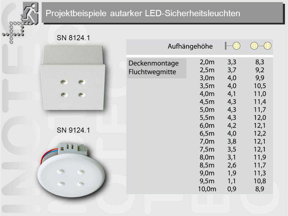 Projektbeispiele autarker LED-Sicherheitsleuchten SN 8124.1 SN 9124.1