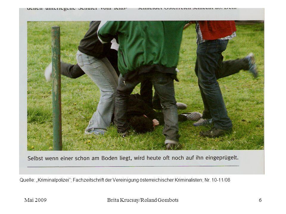 """Mai 2009Brita Krucsay/Roland Gombots6 Quelle: """"Kriminalpolizei ; Fachzeitschrift der Vereinigung österreichischer Kriminalisten; Nr."""