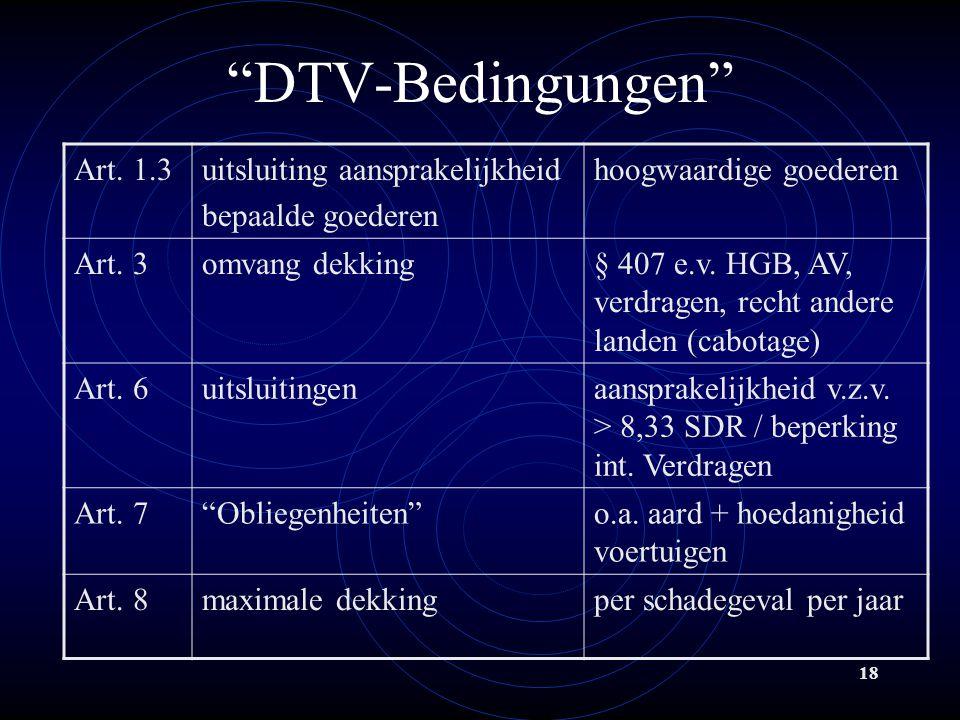 18 DTV-Bedingungen Art.