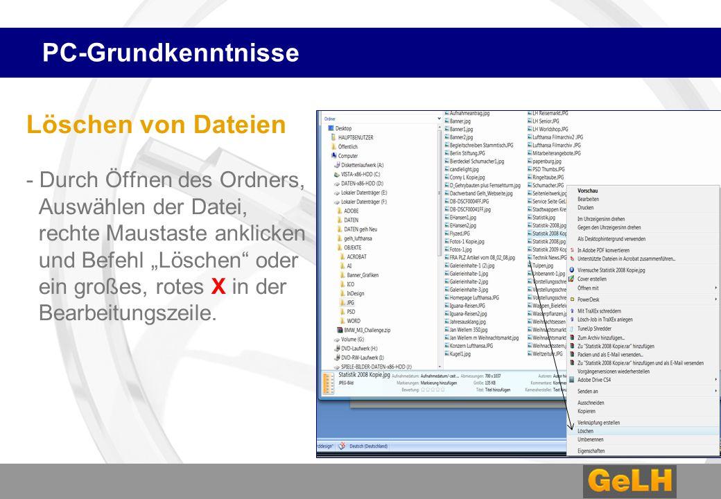 """PC-Grundkenntnisse Umbenennen - Öffnen des Ordners, Auswählen der Datei, rechte Maustaste anklicken, Befehl """"Umbenennen (Vorsicht: Dateiart muss erhalten bleiben) In diesem Fall mit der Endung.jpg)"""