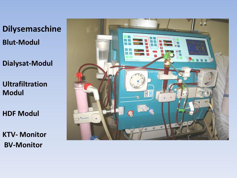 Dilysemaschine Blut-Modul Dialysat-Modul Ultrafiltration Modul HDF Modul KTV- Monitor BV-Monitor