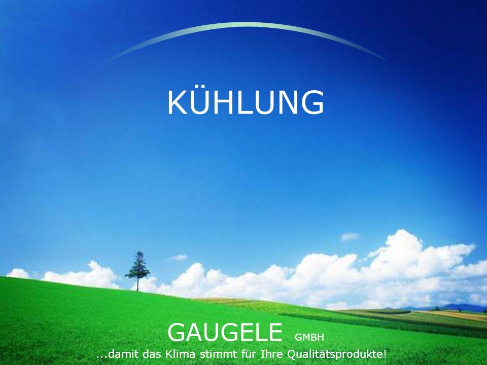 GAUGELE GMBH...damit das Klima stimmt für Ihre Qualitätsprodukte! KÜHLUNG