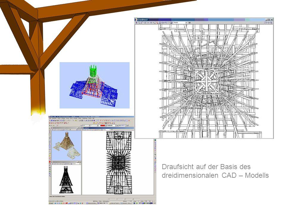Draufsicht auf der Basis des dreidimensionalen CAD – Modells