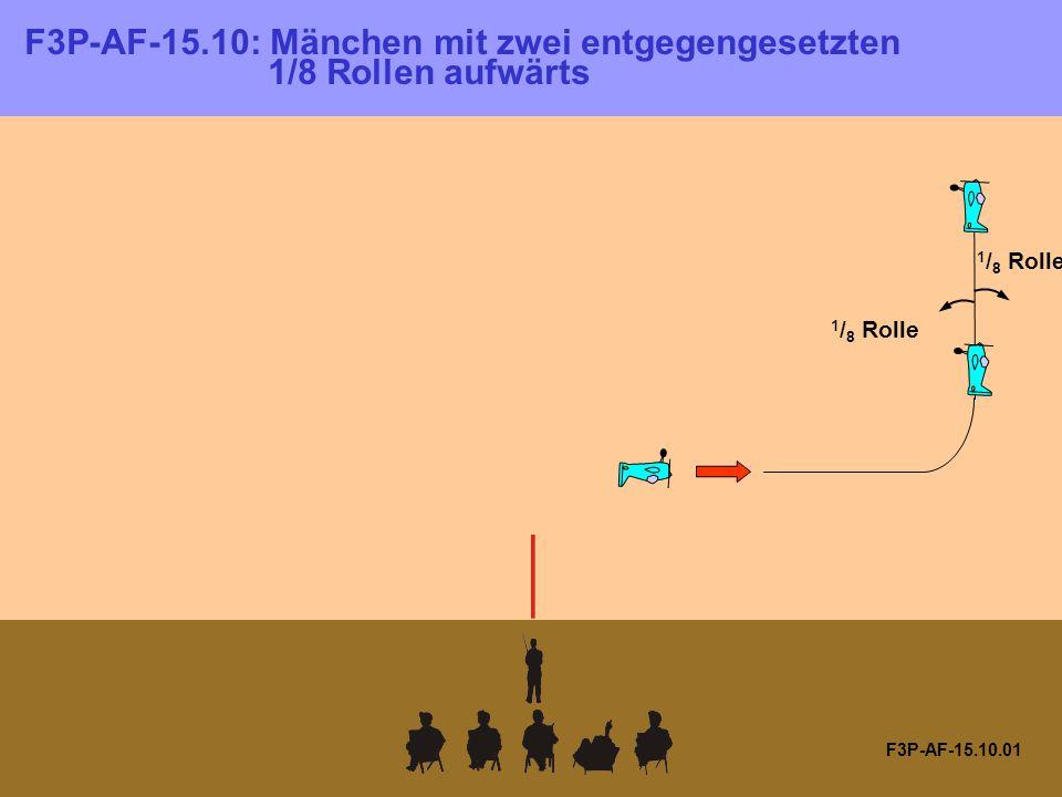 F3P-AF-15.10.01 F3P-AF-15.10: Mänchen mit zwei entgegengesetzten 1/8 Rollen aufwärts 1 / 8 Rolle
