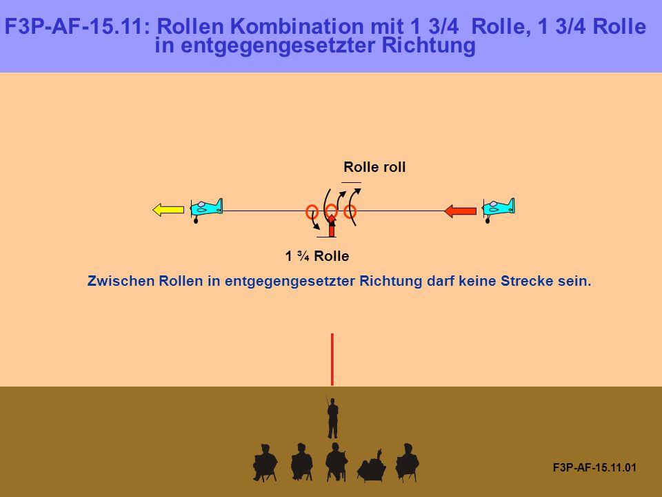 F3P-AF-15.11.01 F3P-AF-15.11: Rollen Kombination mit 1 3/4 Rolle, 1 3/4 Rolle in entgegengesetzter Richtung Zwischen Rollen in entgegengesetzter Richtung darf keine Strecke sein.