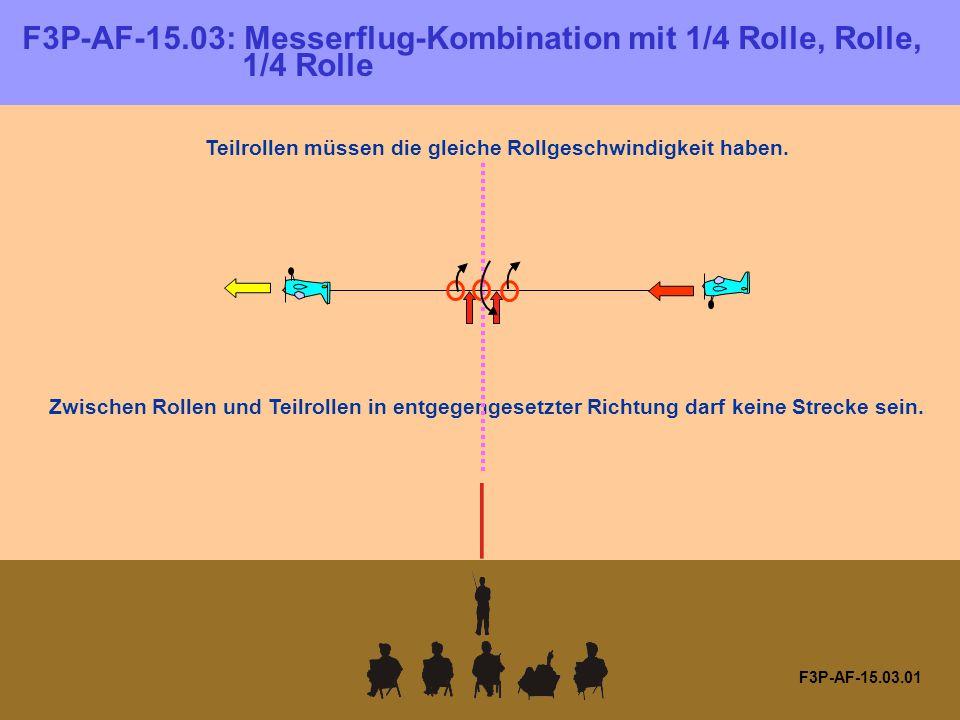 F3P-AF-15.03: Messerflug-Kombination mit 1/4 Rolle, Rolle, 1/4 Rolle F3P-AF-15.03.01 Teilrollen müssen die gleiche Rollgeschwindigkeit haben.