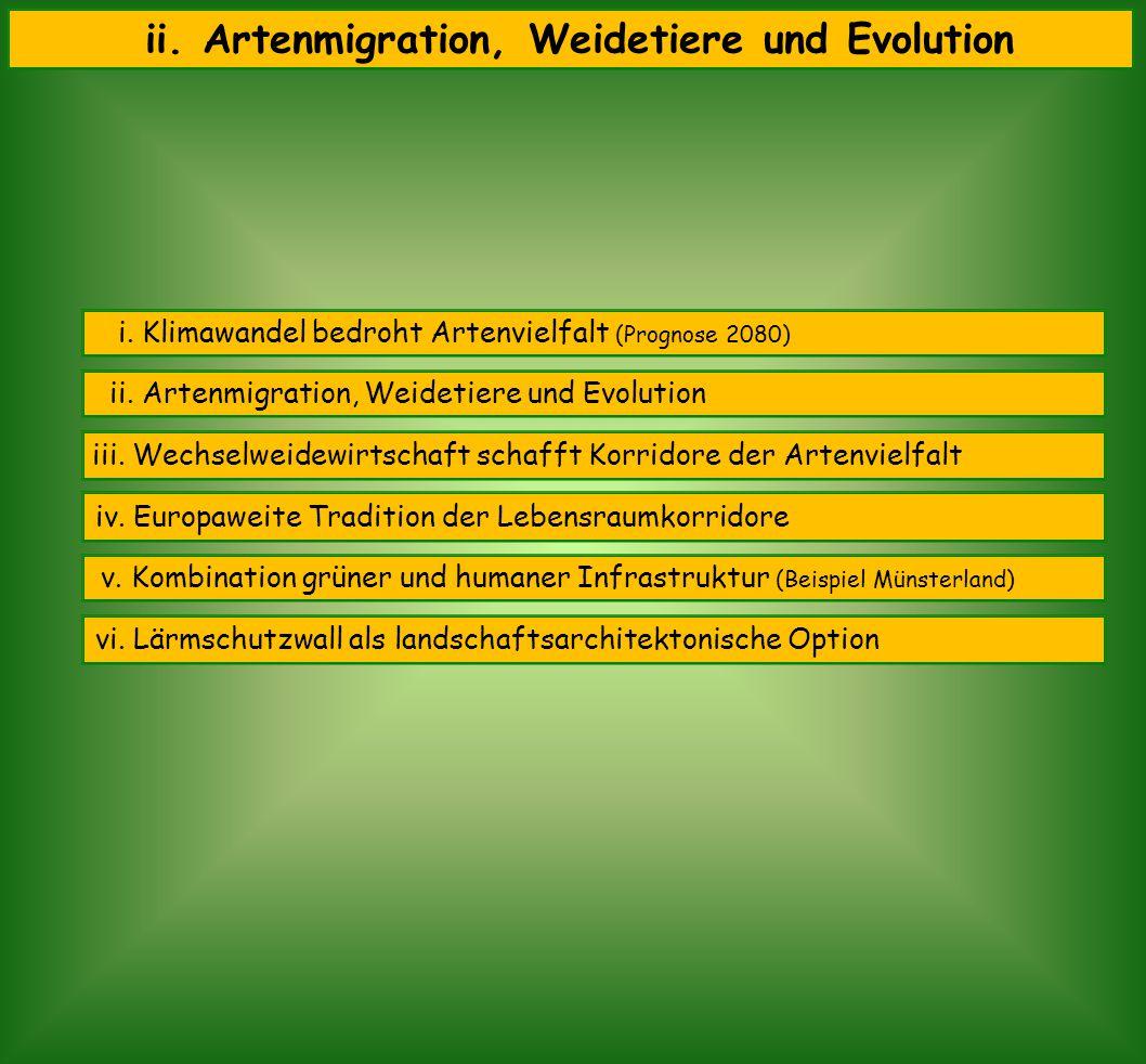 aktuell revolutionierender Störfaktor Evolution der Klima- wandel Bio- diversität Herbivoren (Weidetiere) bedroht ernsthaft Hirten Beginn der Landwirtschaft vor ca.